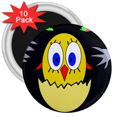 Chicken 3  Magnets (10 pack)