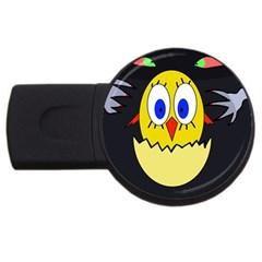 Chicken USB Flash Drive Round (1 GB)