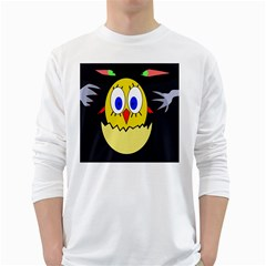 Chicken White Long Sleeve T-Shirts