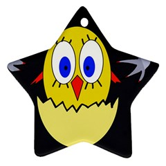 Chicken Star Ornament (Two Sides)