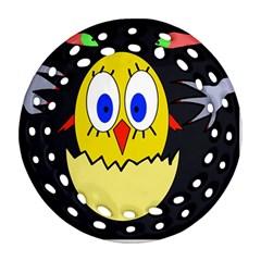 Chicken Round Filigree Ornament (2Side)
