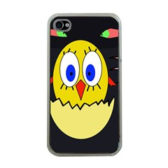 Chicken Apple iPhone 4 Case (Clear)