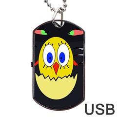 Chicken Dog Tag USB Flash (One Side)