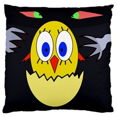Chicken Large Flano Cushion Case (One Side)
