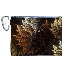 Fractalius Abstract Forests Fractal Fractals Canvas Cosmetic Bag (XL)