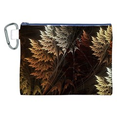 Fractalius Abstract Forests Fractal Fractals Canvas Cosmetic Bag (XXL)