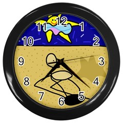 Sunbathing Wall Clocks (Black)