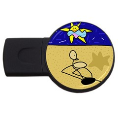 Sunbathing USB Flash Drive Round (1 GB)