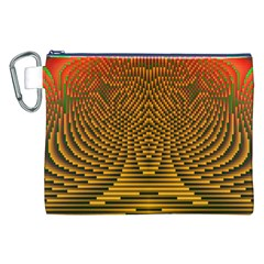 Fractal Pattern Canvas Cosmetic Bag (XXL)