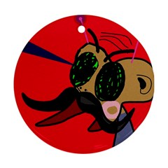 Mr Fly Ornament (Round)