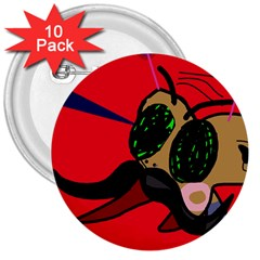 Mr Fly 3  Buttons (10 pack)