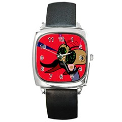 Mr Fly Square Metal Watch