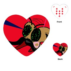 Mr Fly Playing Cards (Heart)