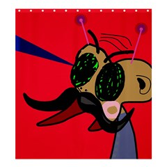 Mr Fly Shower Curtain 66  x 72  (Large)