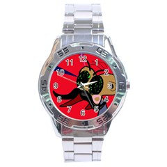 Mr Fly Stainless Steel Analogue Watch