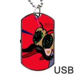 Mr Fly Dog Tag USB Flash (Two Sides)