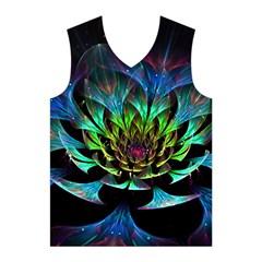 Fractal Flowers Abstract Petals Glitter Lights Art 3d Men s Basketball Tank Top