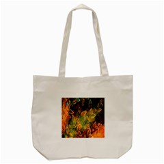 Foliage Design Abstraction Tote Bag (Cream)