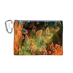Foliage Design Abstraction Canvas Cosmetic Bag (M)
