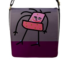 Sponge girl Flap Messenger Bag (L)