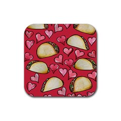 Taco Tuesday Lover Tacos Rubber Coaster (Square)
