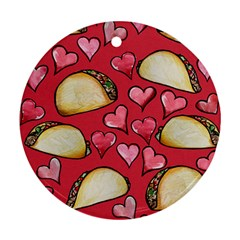 Taco Tuesday Lover Tacos Round Ornament (Two Sides)