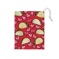 Taco Tuesday Lover Tacos Drawstring Pouches (Medium)