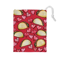 Taco Tuesday Lover Tacos Drawstring Pouches (Large)