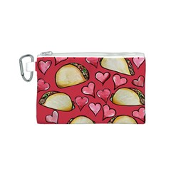 Taco Tuesday Lover Tacos Canvas Cosmetic Bag (S)