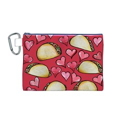 Taco Tuesday Lover Tacos Canvas Cosmetic Bag (m)