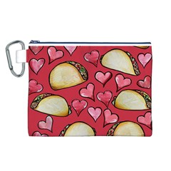 Taco Tuesday Lover Tacos Canvas Cosmetic Bag (l)