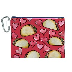 Taco Tuesday Lover Tacos Canvas Cosmetic Bag (XL)