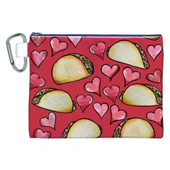 Taco Tuesday Lover Tacos Canvas Cosmetic Bag (XXL)