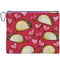 Taco Tuesday Lover Tacos Canvas Cosmetic Bag (XXXL)