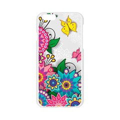 Flowers Pattern Vector Art Apple Seamless iPhone 6/6S Case (Transparent)