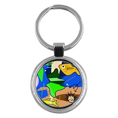 Aquarium  Key Chains (Round)