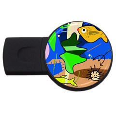 Aquarium  USB Flash Drive Round (2 GB)