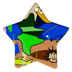 Aquarium  Star Ornament (Two Sides)