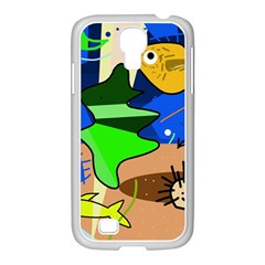 Aquarium  Samsung GALAXY S4 I9500/ I9505 Case (White)