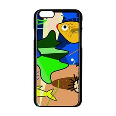 Aquarium  Apple iPhone 6/6S Black Enamel Case