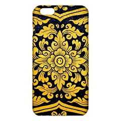 Flower Pattern In Traditional Thai Style Art Painting On Window Of The Temple iPhone 6 Plus/6S Plus TPU Case