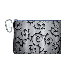 Floral Canvas Cosmetic Bag (M)