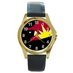 Eagle Round Gold Metal Watch