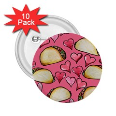 Taco Tuesday Lover Tacos 2.25  Buttons (10 pack)