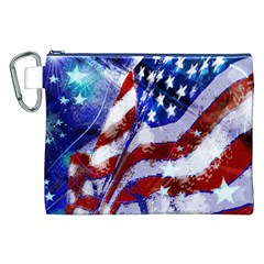 Flag Usa United States Of America Images Independence Day Canvas Cosmetic Bag (XXL)