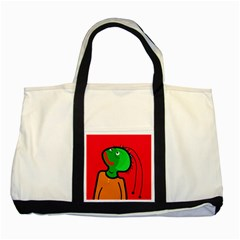 Looking up Two Tone Tote Bag