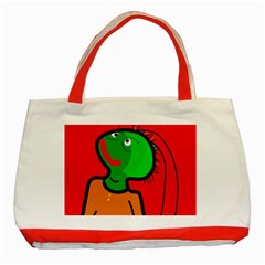 Looking up Classic Tote Bag (Red)