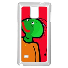 Looking up Samsung Galaxy Note 4 Case (White)