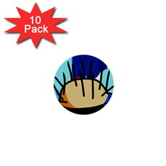 Hedgehog 1  Mini Buttons (10 pack)