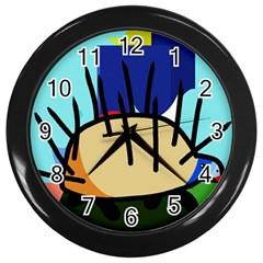 Hedgehog Wall Clocks (Black)